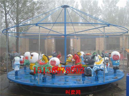 马鞍山旋转木马游乐设备儿童转椅大型游乐场转马简易转马12座电动起伏