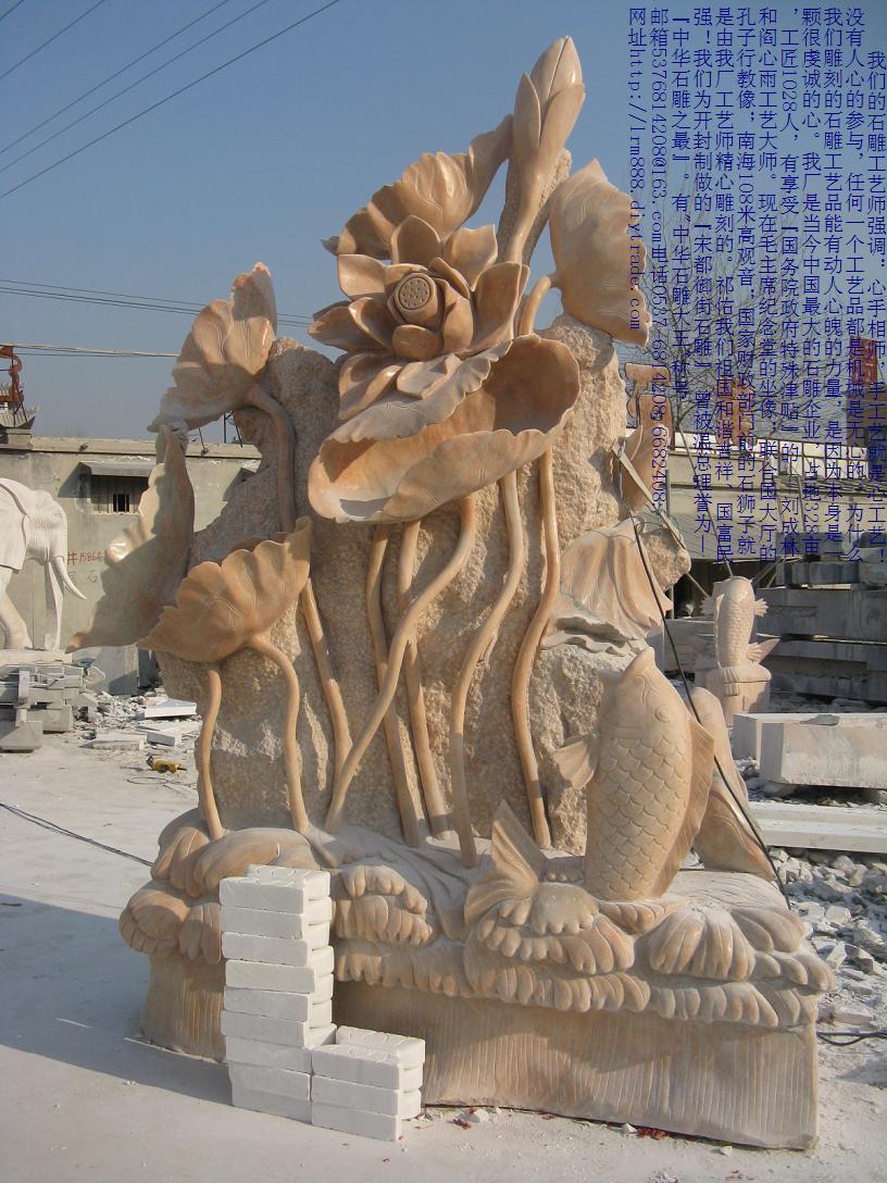 石雕海豚,石雕鱼,手工雕刻鲤鱼戏水,龙凤大鹏
